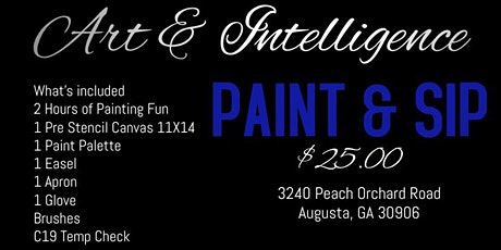 Paint & SIP,  Saturday/Weekends tickets