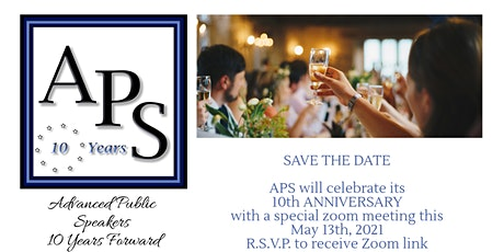 APS 10th Anniversary Meeting tickets