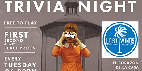Free Trivia! 6pm Tuesdays at Lost Winds Brewing Company tickets