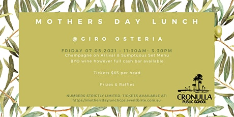 CPS Mothers Day Lunch tickets