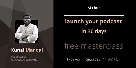 Launch your podcast in 30 days! tickets