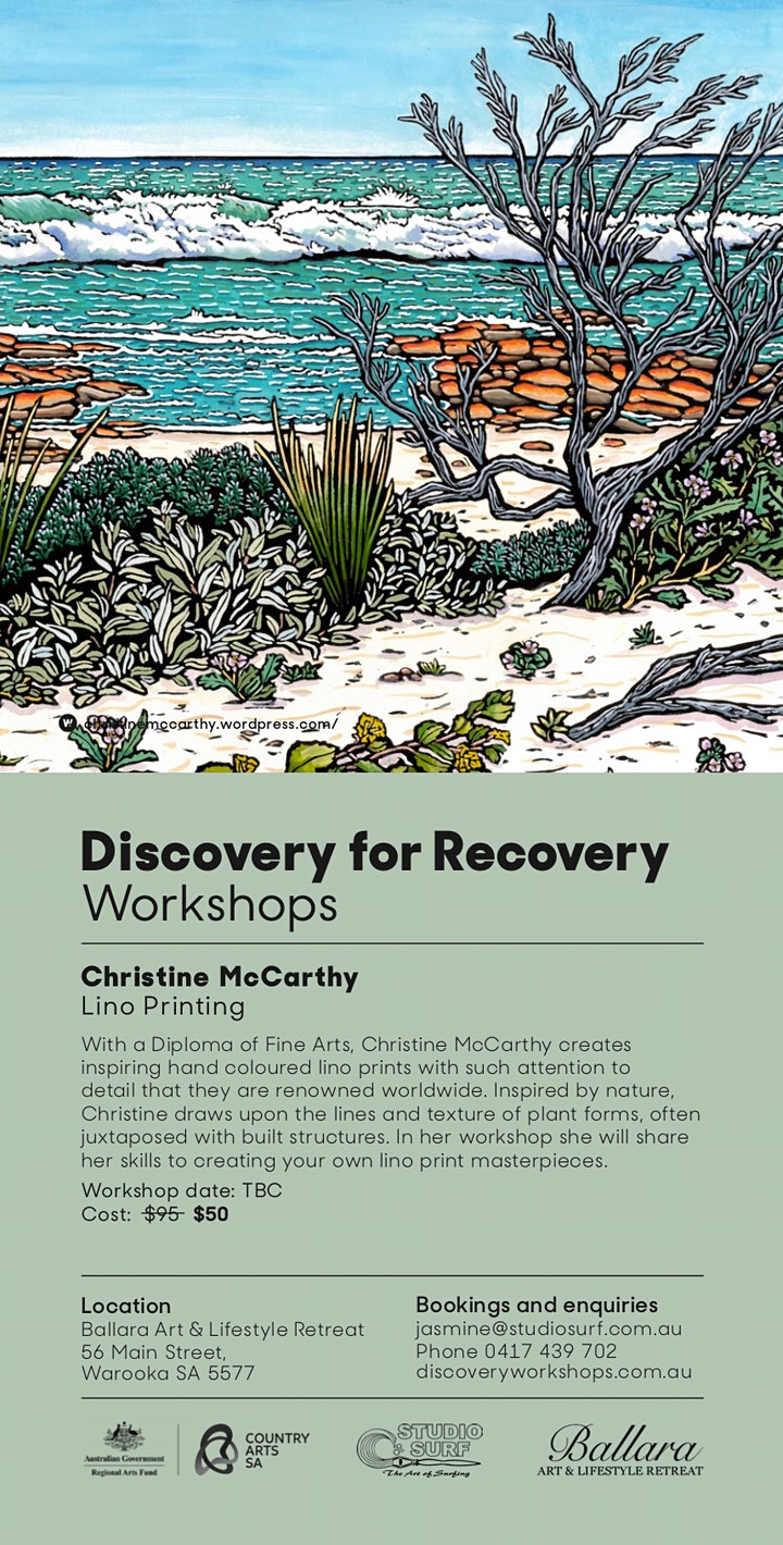 Lino Printing - Discovery Workshop with Christine McCarthy image