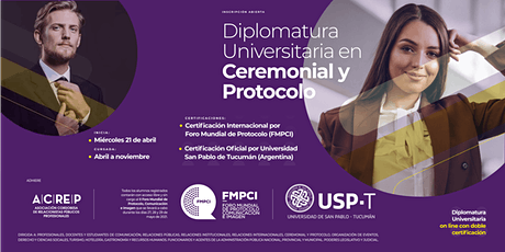Diplomatura Universitaria en Ceremonial y Protocolo boletos