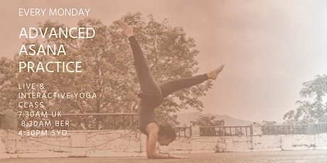 Advanced Asana Group Classes by Asanaguru | Mondays morning (Europe) tickets