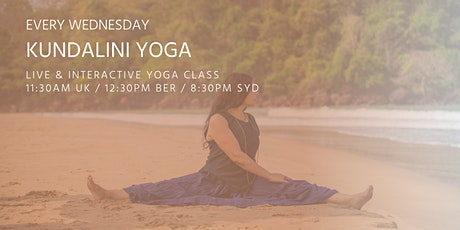Kundalini Yoga classes by Asanaguru | Every Wednesday at lunchtime  (EUR) tickets