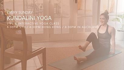 Kundalini Yoga classes by Asanaguru | Every Sunday evening (APAC) entradas