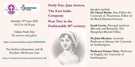 Jane Austen, The East India Company & Pear Tree Church in the 18th Century tickets