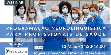 Webinar - Programação Neurolinguística para Profissionais de Saúde bilhetes
