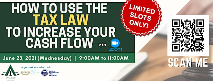 [PAID WEBINAR] HOW TO USE THE TAX LAW TO INCREASE YOUR CASH FLOW image