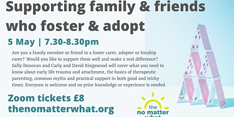 Supporting family and friends who foster and adopt tickets
