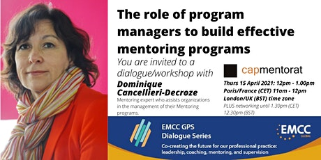 Dominique Cancellieri-Decroze: Program managers role in mentoring programs tickets