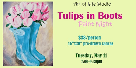 Paint Night: Tulips in Boots tickets