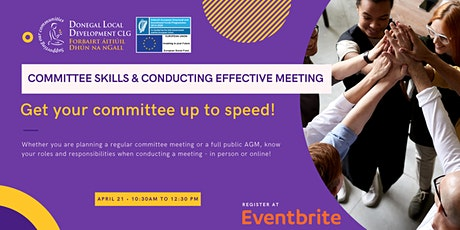 COMMITTEE SKILLS & CONDUCTING EFFECTIVE MEETING tickets