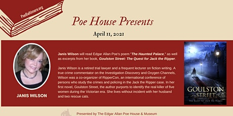 """Poe House Presents"" Author Series (pay-what-you-can) tickets"