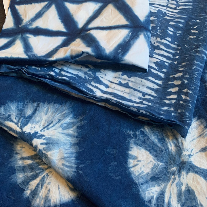 Shibori Indigo Tie Dye for Beginners Virtual Workshop image
