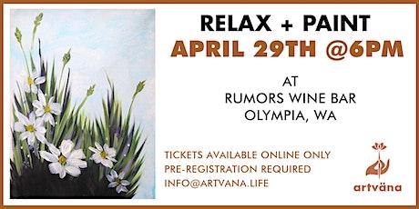 Artvana Relax and Paint at Rumors Wine Bar tickets