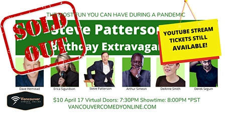 STEVE PATTERSON'S BIRTHDAY EXTRAVAGANZA SHOW - on ZOOM tickets