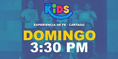 Kids Cartago. Experiencia de Fe  3:30pm boletos