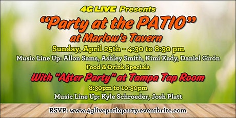 """4G LIVE Presents """"Party at the PATIO"""" tickets"""