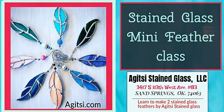 Stained Glass MINI Feathers Make and Take Mother's tickets