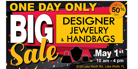 Designer Jewelry & Handbags Sales Event - Save up to 50% off! tickets