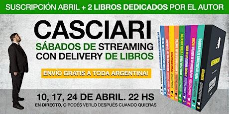HERNÁN CASCIARI: «Streaming con Delivery de libros» — Suscripción Abril entradas