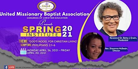 2021 UMBA Congress of Christian Education Spring Institute boletos