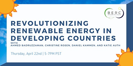 Revolutionizing Renewable Energy in Developing Countries tickets