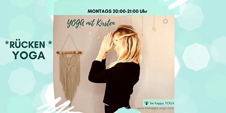 Rücken Yoga  mit be happy YOGA Kirsten Tickets