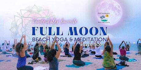 Full Moon Rise Sunset Beach Yoga & Meditation (group rate) tickets