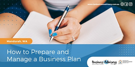 How to Prepare and Manage a Business Plan tickets