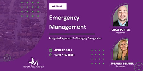 Webinar: Emergency Management: Integrated Approach To Managing Emergencies tickets