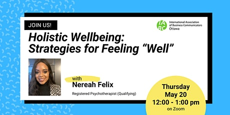 """Holistic Wellbeing: Strategies for Feeling """"Well"""" tickets"""