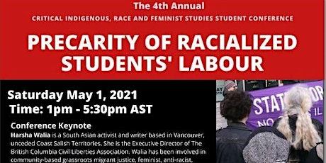 The Critical Indigenous, Race, and Feminist Studies Student Conference 2021 tickets