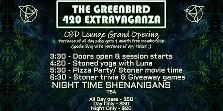 Greenbird 420 Extravaganza: CBD Lounge Grand Opening tickets