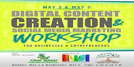 Digital Content Creation & Social Media Marketing Zoom Workshop tickets