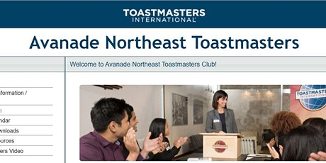 District 119 Avanade Northeast Toastmasters Club Meeting (4/23  @ 1pm EST) billets