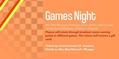 Mac Med Musical Charity Games Night Tickets