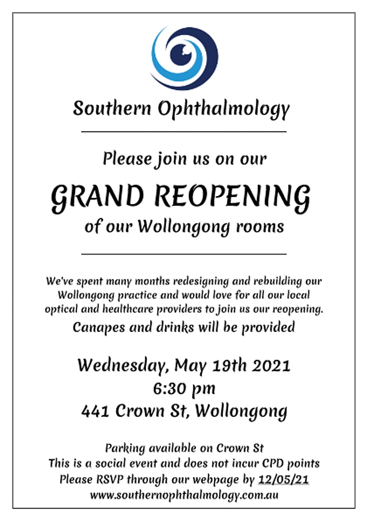 Southern Ophthalmology -  Cocktail/Reopening Event image