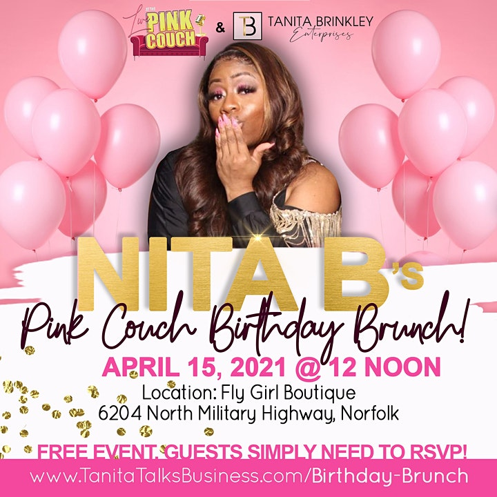 Nita B's PINK COUCH Birthday Brunch! image