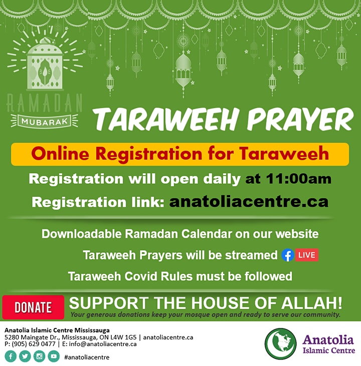 Taraweeh Prayer Registration at AIC image