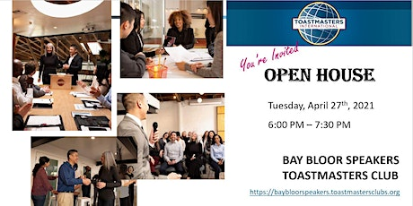 Public Speaking - Toastmasters  Open House tickets