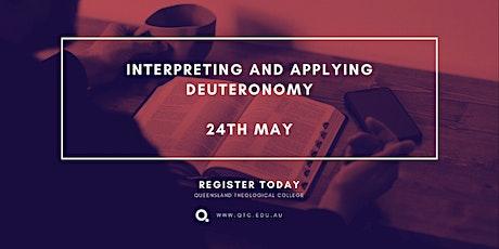 Interpreting and Applying Deuteronomy with Gary Millar - Public Day tickets