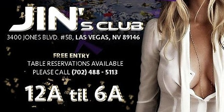 JIN's AFTER HOURS LOUNGE * JIN's CLUB-LIST tickets