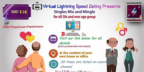 ZOOM Sunday Virtual Singles Mixer 4 all 50s +: Never 2 late to find love tickets