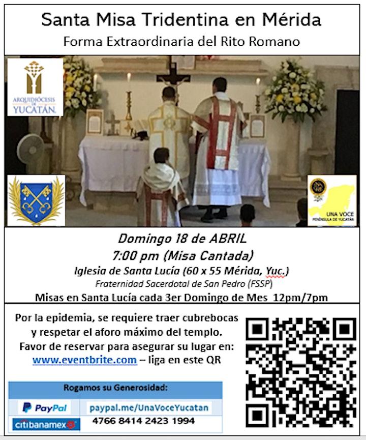 Imagen de Misa Tridentina Cantada - Forma Extraordinaria del Rito Romano (Latin Mass)