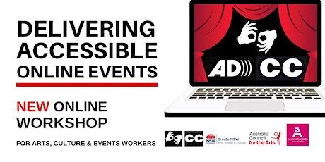 Delivering Accessible Online Events Workshop   6 October 2021 tickets