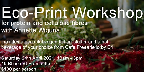 Introduction to Eco-print Workshop for Cellulose and Protein Fibres tickets