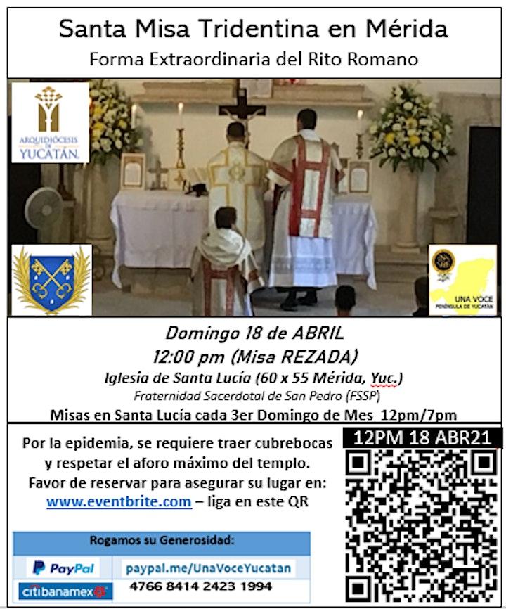Imagen de Misa Tridentina Rezada - Forma Extraordinaria del Rito Romano (Latin Mass)