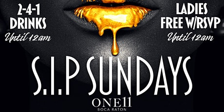 Sip Sundays @ One 11 Boca Raton tickets